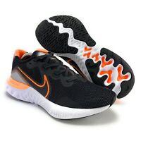 Nike Men's Renew Run Black Total Orange Running Shoes CK6357-001 Size 10