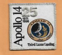 """APOLLO 14 25 YEAR ANNIVERSARY   SPACE PATCH 3 1/2"""" *"""