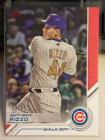 2017 Topps Update Baseball ANTHONY RIZZO Salute Red Parallel Card # 13/25 - CUBS