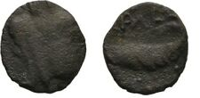 Ancient Rome 69-79 AD JUDAEA ASCALON VESPASIAN TYCHE GALLEY-Jewish War