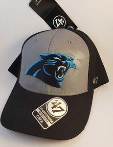 NWT Carolina Panthers BIG PRINT NFL Stretch Football 47 Hat Cap Men Adult Xmas