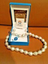 """Joia De Majorca 18"""" 12x14mm Barrel Baroque Pearl Necklace PLUS Hook Earrings"""