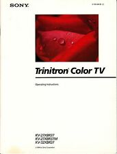 VINTAGE SONY TRINITRON KV-27,32XBR37 OWNERS MANUAL