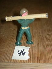 ca 1960'S BARCLAY DIMESTORE LEAD TOY SOLDIER WITH BAZOOKA #46