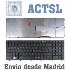Keyboard Spanish for Sony VAIO SVE151G17M Black Frame
