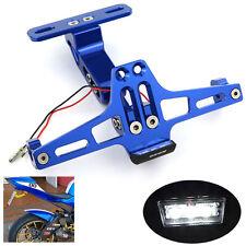 CNC License Plate Bracket LED Rear Light For KAWASAKI Ninja300R 2013-15 14 BLUE