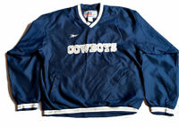 Reebok NFL Pro Line Vintage Men's Sweatshirt Blue Dallas Cowboys Logo Large New