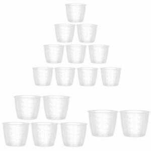 10x Clear Plastic Rice Measuring Cups Kitchen Rice Cooker Replacement Cup Liquid