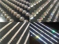 8 x 11cm Self Adhesive DIAMANTE Stick on STRIPS Gems Card Craft Making Diamonds
