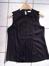Damen Sommer Top schwarz Vila Clothes Roya Top Plissee S/36 Rarität Gothic