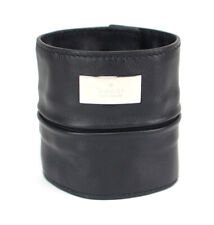 Gucci Black Leather Bracelet 039 1669 0996 #46810 free shipping from Japan