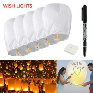 Chinese Lantern Wishing Lanterns Kongming Lighting For Birthday Wedding Party UK