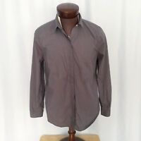 Everlane mens gray long sleeve button front shirt size L