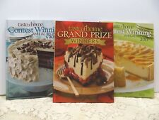 3 Taste of Home Cook Books  2011 & 2012 Winners Annual & Grand Prize Winners (8)