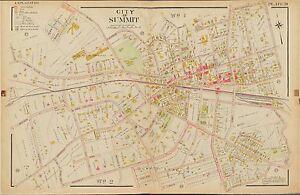 1906 SUMMIT UNION NEW JERSEY KENT PLACE SCHOOL ST. TERESA'S RC CHURCH ATLAS MAP