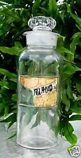 "LARGE~Antique Glass Label Apothecary Bottle~LUG~Pharmacy~1800s~13"" Tall~RARE"