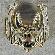2 GARGOYLE BAT BIKER RINGS BR81 choppers ring motorcyle gargoyles mens fashion