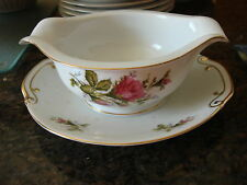 Vintage FLORAL PARK MOSS ROSE Japan GRAVY/UNDERPLATE