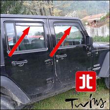 4 Déflecteurs de vent pluie air teintées Jeep Wrangler JK Unlimited 5 portes 5p