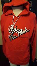 VTG 80s Ski Park City Utah Red Hooded Sweatshirt Snowboard Salt Lake Mountain