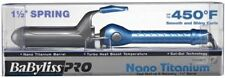 "BABYLISS PRO NANO TITANIUM 450° TURBO HEAT SOL-GEL 1 1/2"" SPRING CURLING IRON"