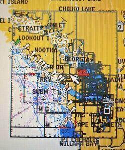 GARMIN BLUECHART PUGET SOUND WA TO PORT HARDY CA MCA500L DATA CARD MARINE CHART