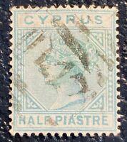 CYPRUS - Scott #11 - Used Very Fine (See Photo)  Catalog Value - $52.50