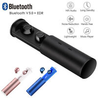 Bluetooth 5.0 Headset Mini TWS HIFI Wireless In-Ear Stereo Earphones Earbuds