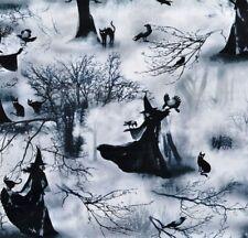 Spooky Witch Hexen Katzen Halloween Patchworkstoffe Stoffe Patchwork Gothic Cats