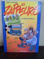 Les Zappeurs T9 - La télé rend flou - Ernst & Janssens - DUPUIS 2001 -Comme NEUF