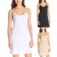 Women Long Spaghetti Strap Dress Full Cami Camisole Slip Under Dress Liner Surp