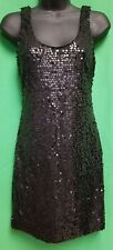 As You Wish Little Black Short Sequin Dress - Size Small Junior - VGC