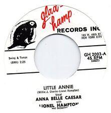ANNA BELLE CAESAR  LITTLE ANNIE / I'VE GOT MY MAN   GLAD HAMP Re-Iss/Re-Pro  R&B