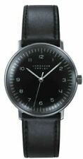 NEW Junghans 027/3702.00 Mechanical Handwinding Black Leather 34mm Case Watch