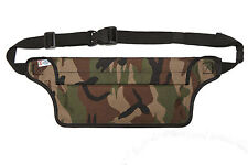 Aqua Quest AquaRoo - 100% Waterproof - Money Belt Fanny Pack Travel Pouch - Camo