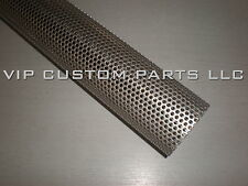 2.5 in. 409 STAINLESS STEEL perforated exhaust tube (2 FOOT LONG)