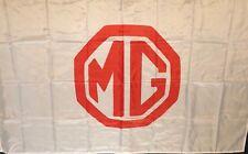 MG MGB MGA MIDGET White, HUGE Flag..Classic car show, Man Cave, Garage, Shed