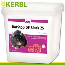 CIT Kerbl 3 kg RatStop DF Block 25 Rattengift Mäusegift Köderblock Gift Dife
