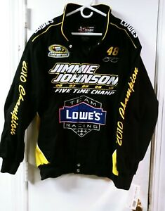 New Jimmie Johnson 5 Time Champion Lowes Nascar Jacket Large Chase Authentic