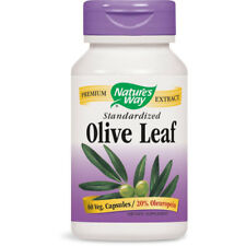 Nature's Way - Olive Leaf Standardized 20% Oleuropein - 60 Vegetarian Capsules