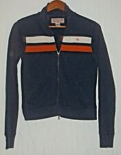 ABERCROMBIE & FITCH blue orange white full zip Jacket womens size M Medium