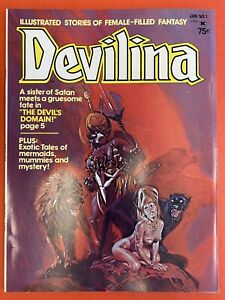 DEVILINA #1 & 2 1975 SEABOARD PERIODICALS VERY NICE COPIES SEE PICS