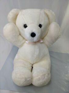 """Dakin Cuddles White Bear Plush 15"""" 1979 Stuffed Animal Toy"""