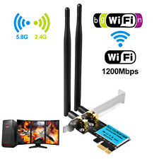 1200Mbps Wireless WiFi Card 2.4G/5G PCI-E Dual Band Network Adapter for Desktop