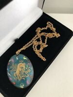 Aries Ram Vintage Necklace statement Star Sign Astrology Celestial Horoscope