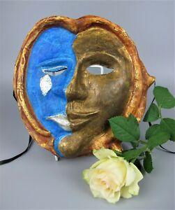 Genuine Venetian Carnival Masquerade Sad & Happy Mask. Paper Mache. Hand made.