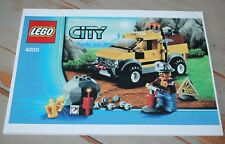 LEGO CITY / COLLECTOR / COPIE COULEUR NOTICE COMPLETE 4200 LE 4X4 DE LA MINE