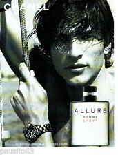 PUBLICITE ADVERTISING 016  2004  CHANEL  parfum homme Allure sport