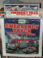 NEW 2005 Hess Emergency Truck with Rescue Vehicle, Bag & Batteries-MINT