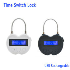 1xDigital Timer Switch USB Rechargeable Time Switch Lock Padlock For Accessories